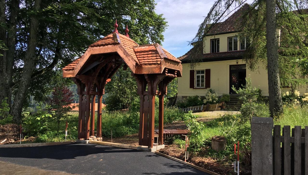 Portique du patrimoine du canton de Vaud après restauration